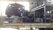 Unfallinstandstellung an einem VW Sharan